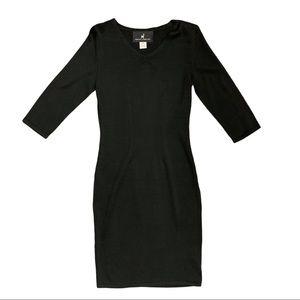Peruvian Connection Black Sweater Dress | S